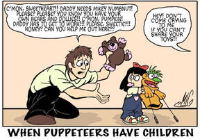 When Puppeteers Have Children by Smigliano