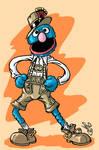 Grover in Liederhosen