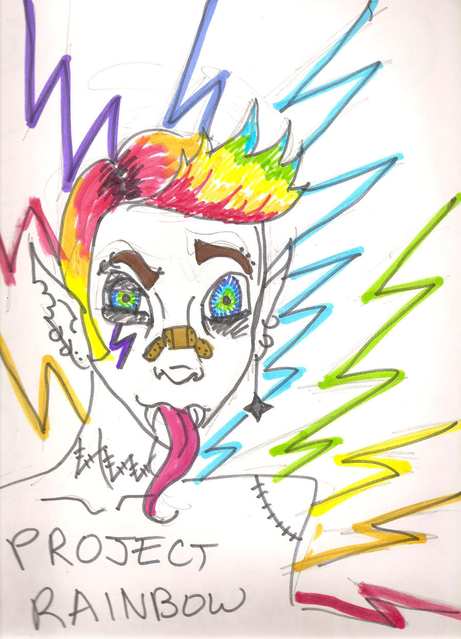 Project rainbow calamity by izzabella43 on deviantart for White rainbow project