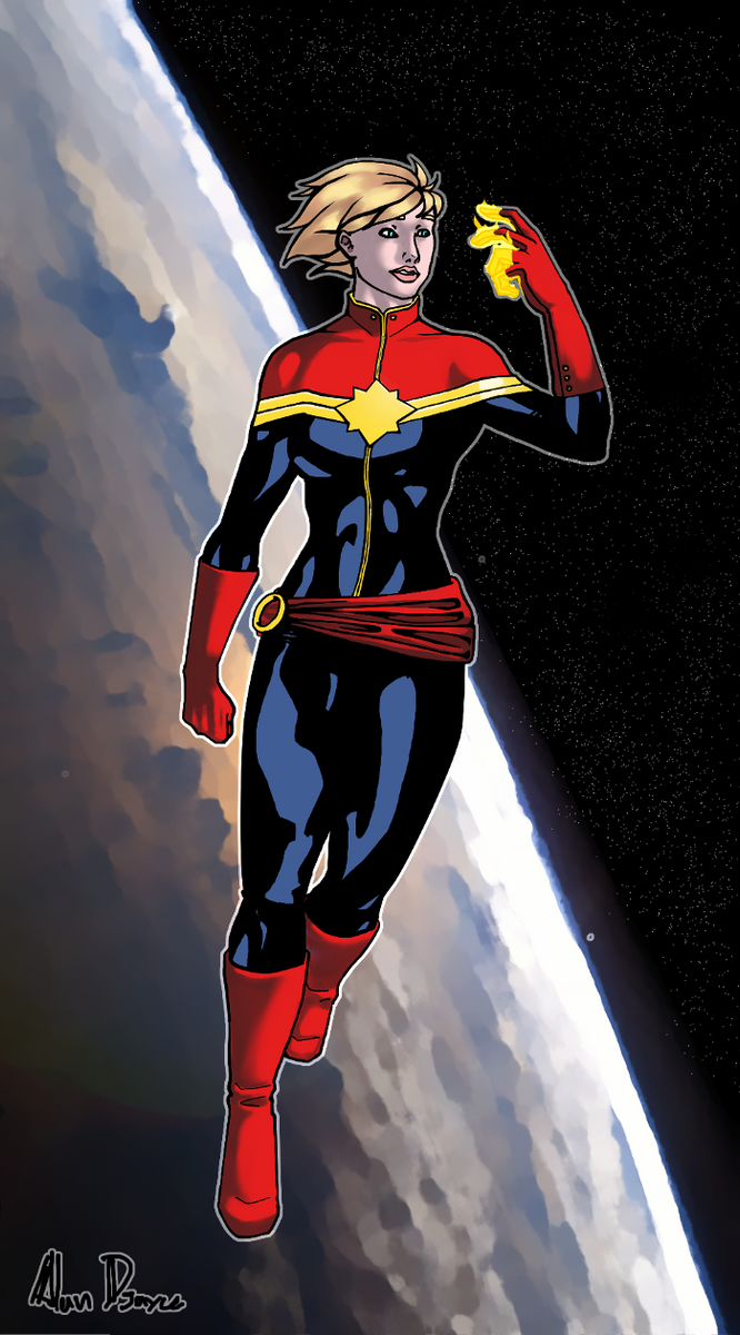 Carol Danvers Capitain Marvel by AlanDjayce