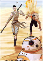 The Force Awakens - Escape from Jakku by AlanDjayce