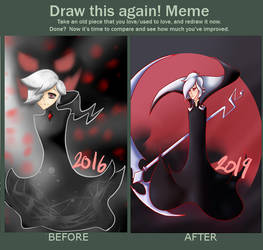 Draw this again: Silver reaper by MonotoneDreamer
