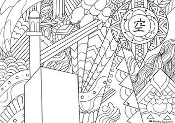 Open Skies (Coloring page) by MonotoneDreamer