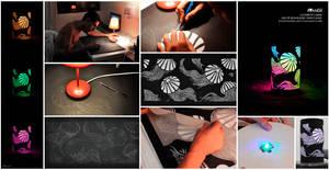 Making of lampshade jellyfish