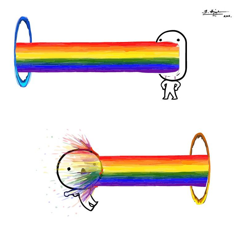 when_portal_meets_rainbow_puke_by_hajnita d5cngrz when portal meets rainbow puke by hajnita on deviantart