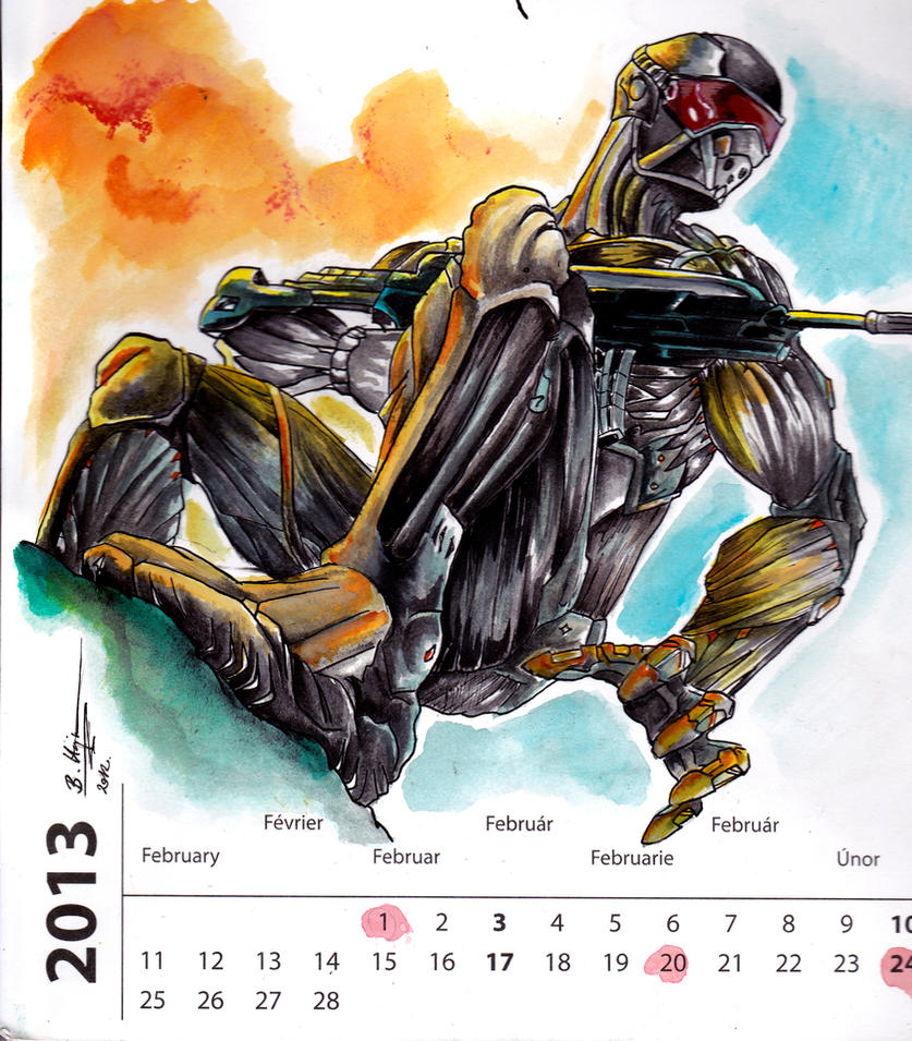 2013 Calendar - Mr. February by Hajnita