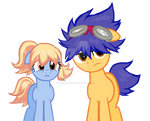Ponified Fossil Fighters Champions Boy, and girl.