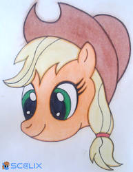 Applejack - Head by scalixcz