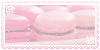 - strawberry macaron stamp - by ABorealis
