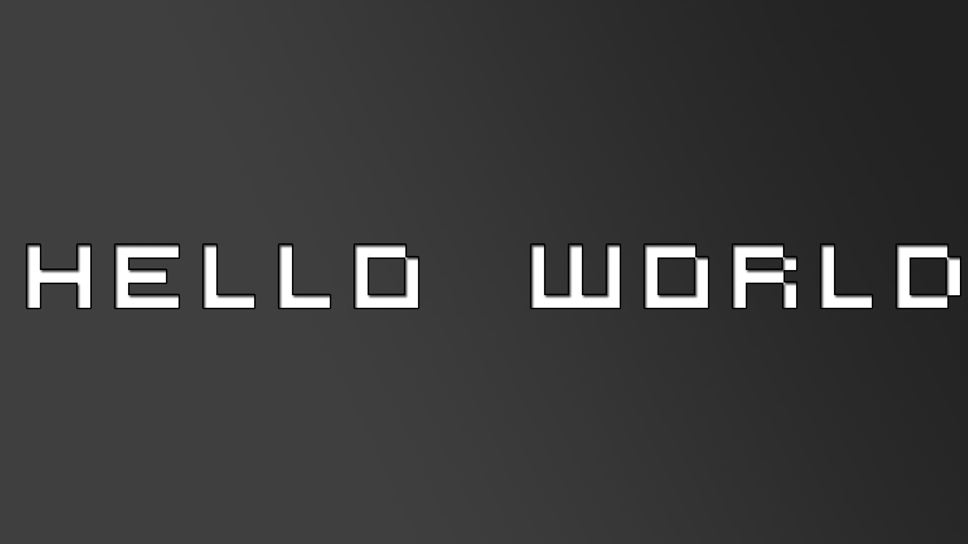 Hello World By SloppierKitty7 On DeviantArt