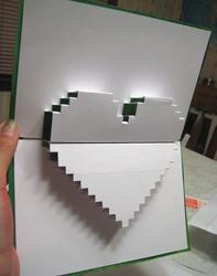 Heart popup card
