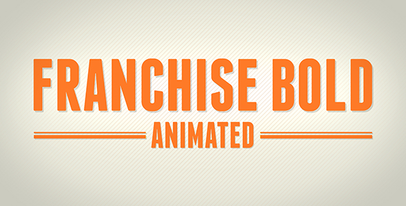 Animated Typeface - Franchise Bold - After Effect by TheStro