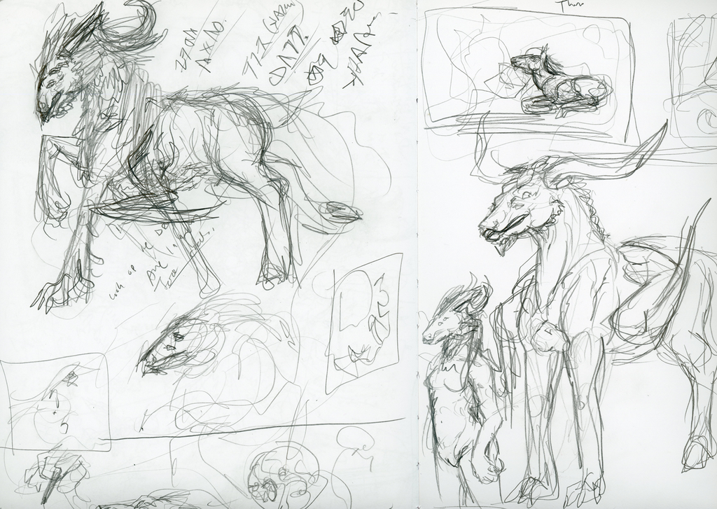 Sketchy things yep by CheshireKhoshekh