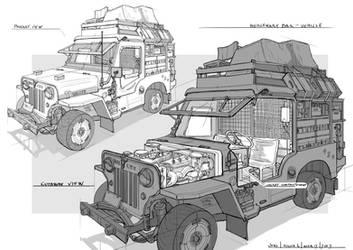Mercenary Listening Post-Jeep by CaconymDesign