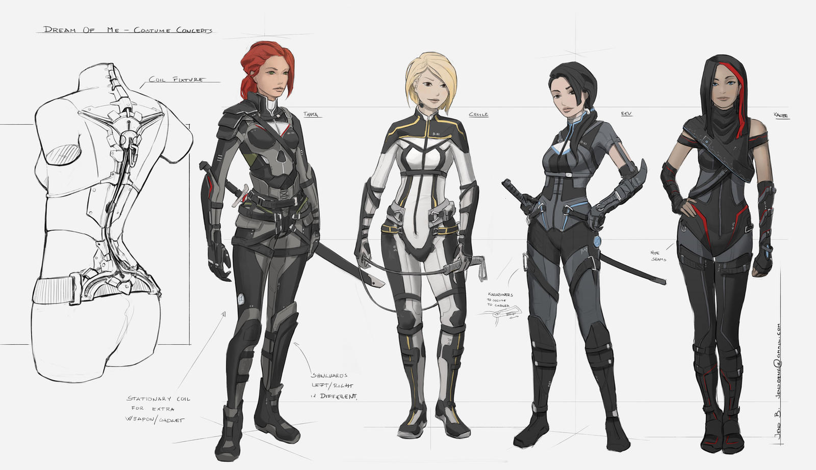Character Design Up : Dream of me character lineup by caconymdesign on deviantart