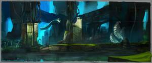 Brainpunk Alien World - Ruins