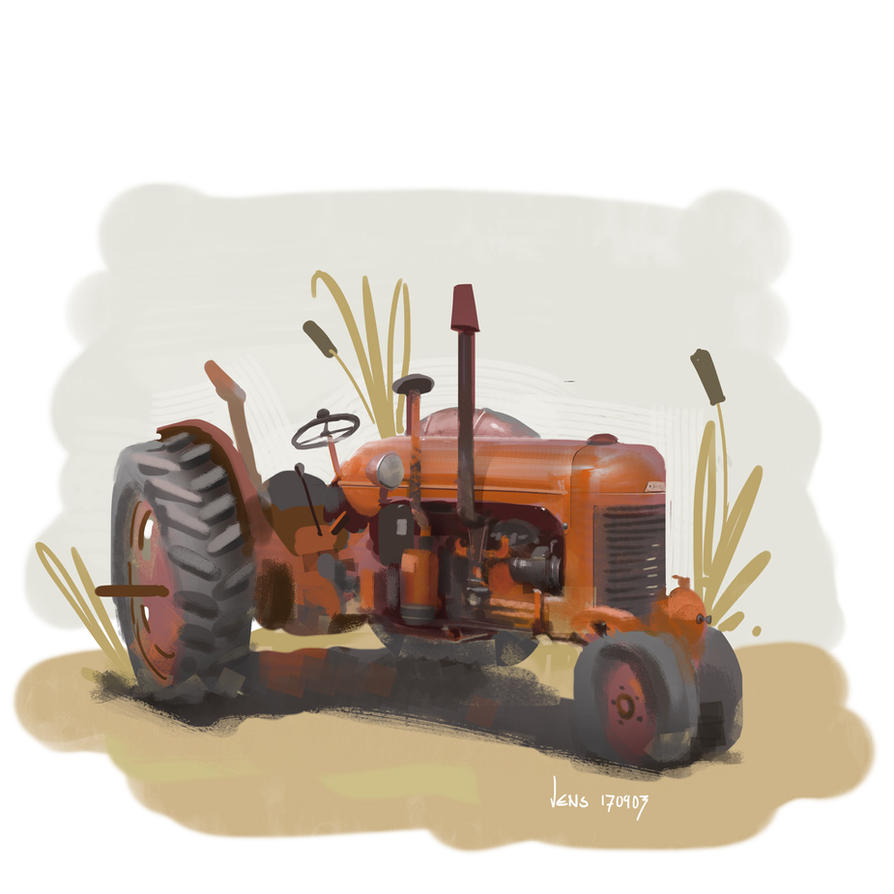 Little Tractor by CaconymDesign