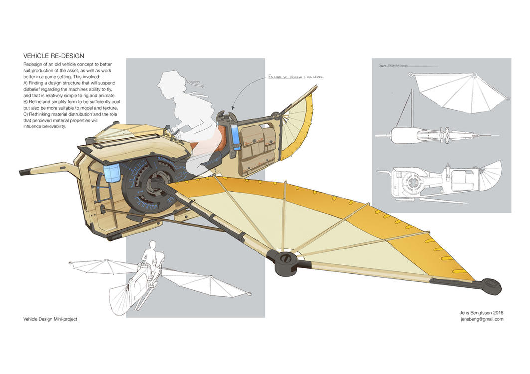 Grasshopper - Flying Machine Re-design by CaconymDesign