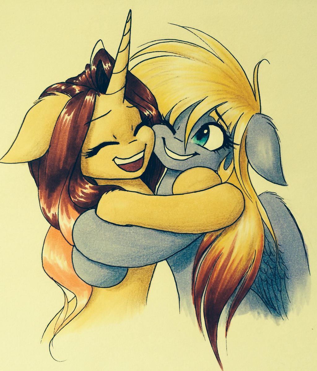 Hugs for Avi by Katputze