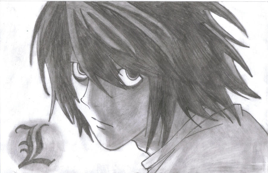 how to draw death note l