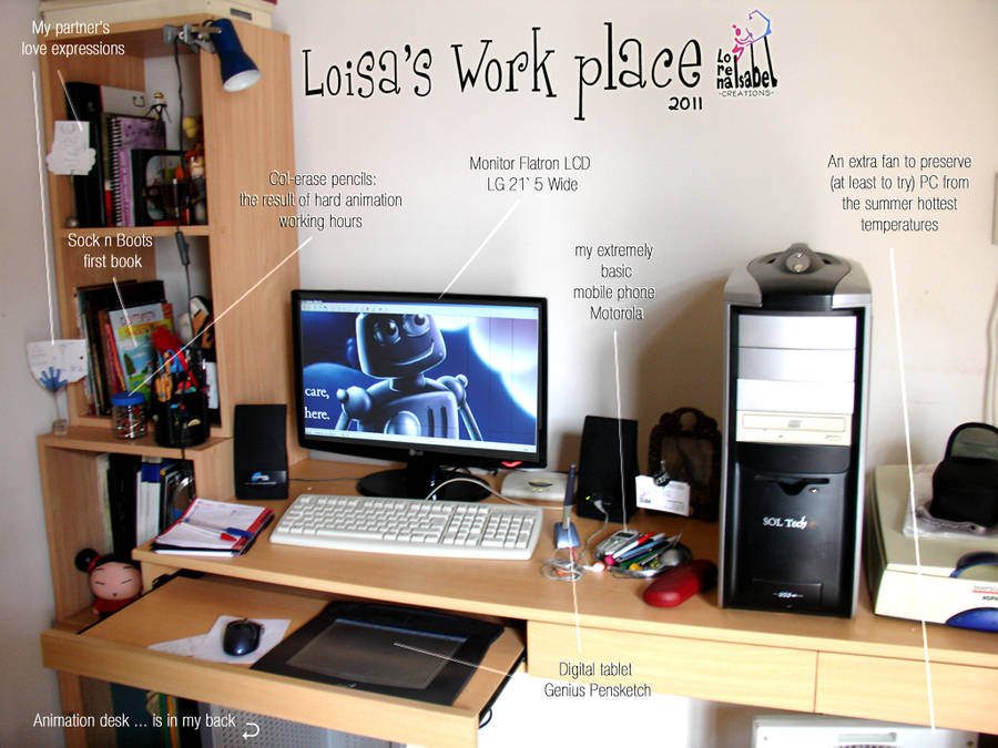 my 2011 work place by Loisa