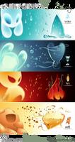 4-Elements mugset by Loisa