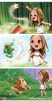 Lucinda and her magic -closeups 1- by Loisa