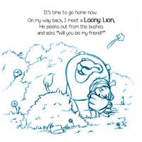 .:Lucinda meets a loony lion:. by Loisa