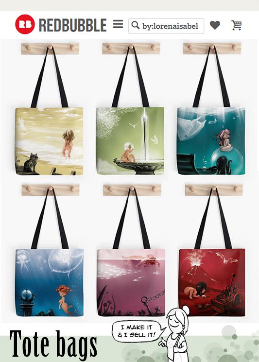 Cromalinas tote bags by Loisa