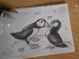 # 21 - Horned Puffin - by Loisa
