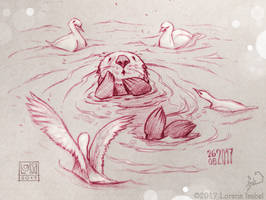 Day 27 - Sea Otter - by Loisa