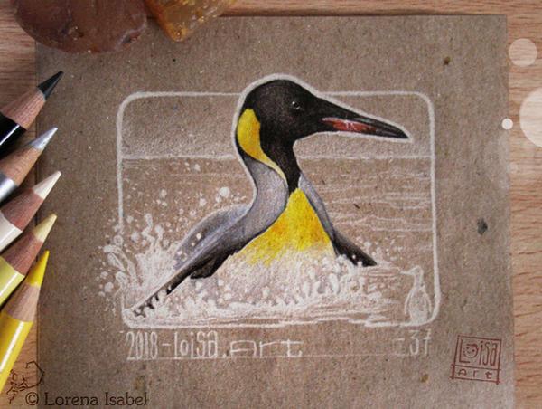 37 - King Penguin - by Loisa
