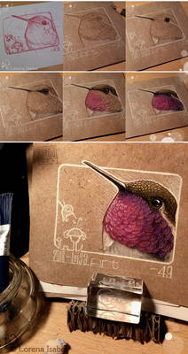 49 - Hummingbird (step by step)