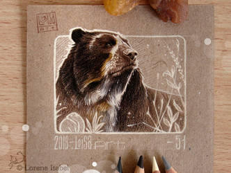 51 - Spectacled Bear - by Loisa