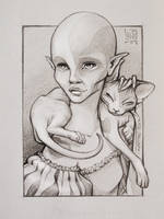 Sphynx cat love by Loisa