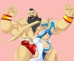 Mika and Zangief