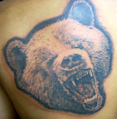 Traditional grizzly bear tattoo - photo#9