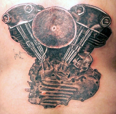 Motorcycle Engine Tattoos Pictures Pin Pinterest Tattooskid Knucklehead Tattoo Themessiah666