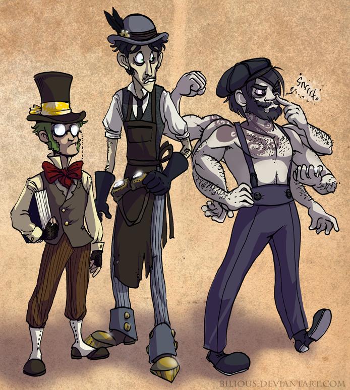 Steampunk trio by Bilious
