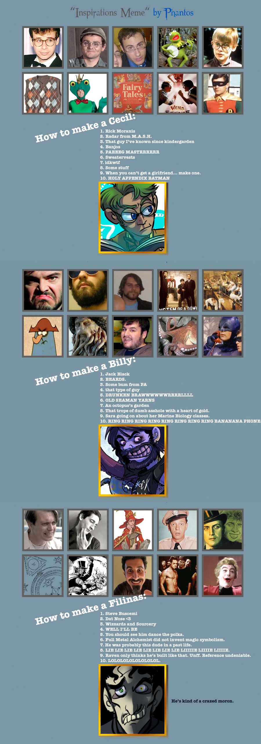 Inspirations Meme by Bilious