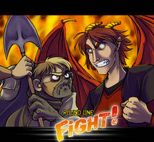 Hunchback vs. Dragon GO GO GO by Bilious