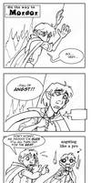 LOTR:  Angst -black and white- by Bilious