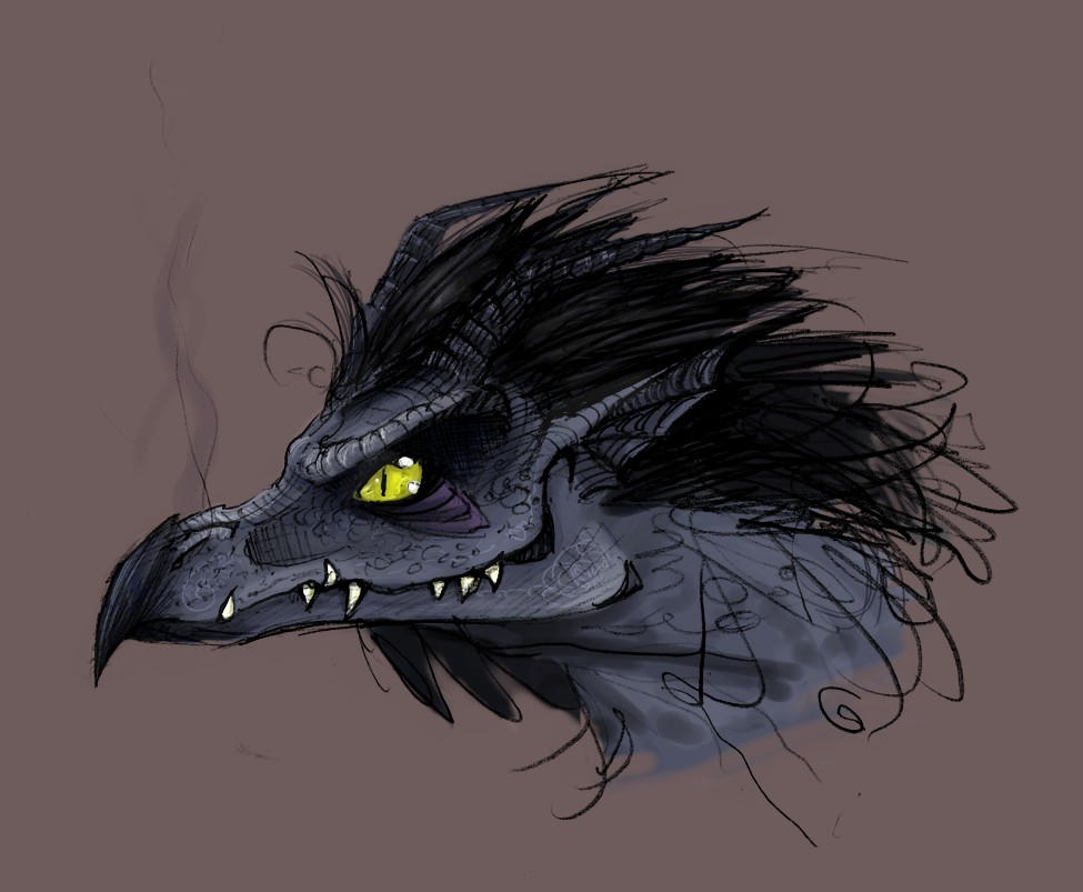 Dragon Raven colored by Bilious
