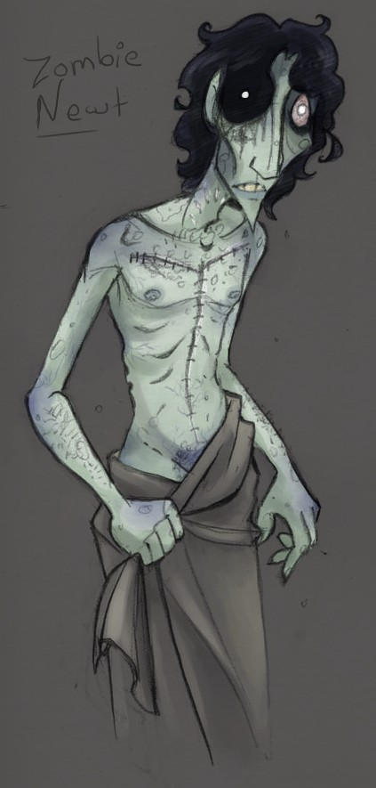 Zombie Newt by Bilious
