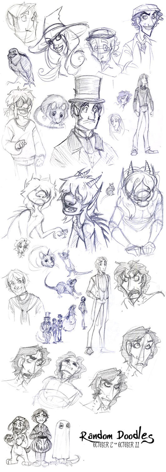 sketches oct 2 - oct 11 by Bilious
