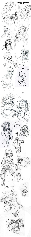 DnD: Doodle Dump 1 by Bilious