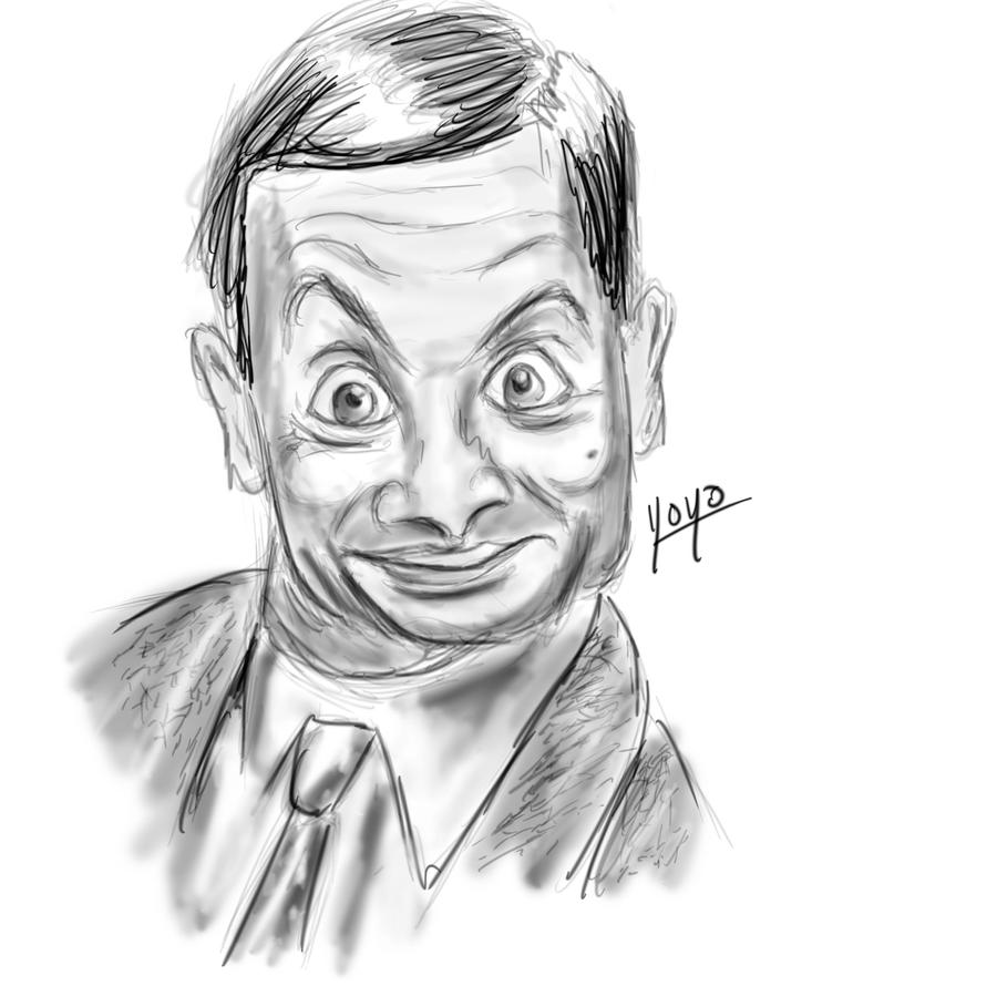 mr bean caricature by