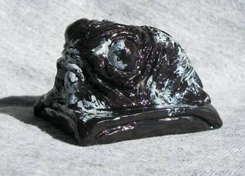 Snowflake Obsidian Shoggoth by BrittaM