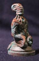 Ammonite Cthulhu in Copper by BrittaM