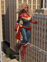 Captain Marvel Cosplay by TinyThea